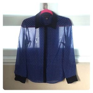 Blue & Black Blouse